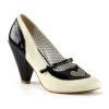 POPPY-18 Black/Cream Faux Leather